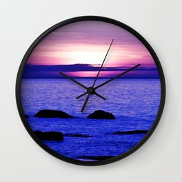 Dusk on the Saint-Lawrence Wall Clock