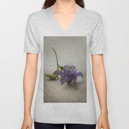 Purple columbine Unisex V-Neck