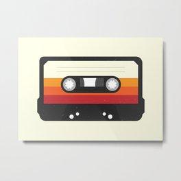 Black Cassette #1 Metal Print