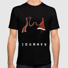 Journey MEDIUM Black Mens Fitted Tee