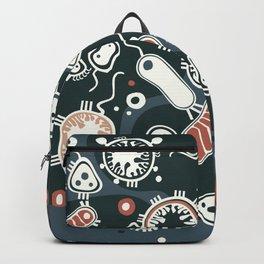 Eukaryotes (dark blue, white and orange) Backpack