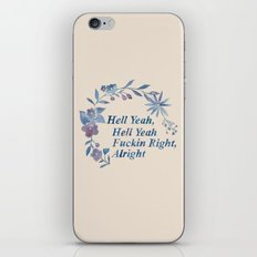 Floral Rap #1 iPhone & iPod Skin