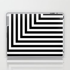 Black and White L Stripes // www.pencilmeinstationery.com Laptop & iPad Skin