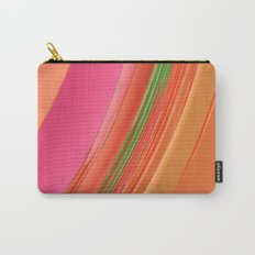 Peach Apricot Mango Bold Stripes Carry-All Pouch