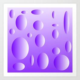 Lilac bubble design Art Print