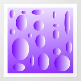 Lilac bubble design Art Print