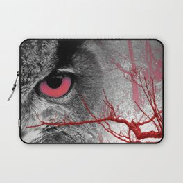 Pink-Eyed Owl & the Fanciful Forest Laptop Sleeve