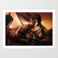 "martell Art Prints featuring Oberyn Martell ""A Song of Ice and Fire"" ( A Game of Thrones ) by Magali Villeneuve"