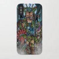 teenage mutant ninja turtles iPhone & iPod Cases featuring Ninja Time! by Mercenary Art Studio