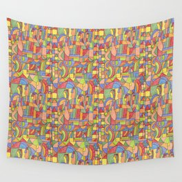 6 cousins inspired in Amadeo Souza Cardoso  Wall Tapestry