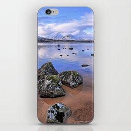 Rocking it on Rannoch Moor; Scottish highlands iPhone Skin