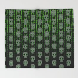 Skull Hacker (pattern version) Throw Blanket