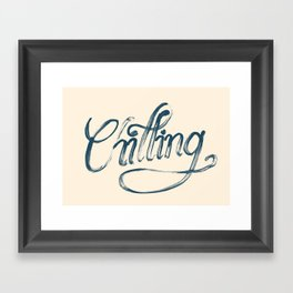 Just Chilling Framed Art Print