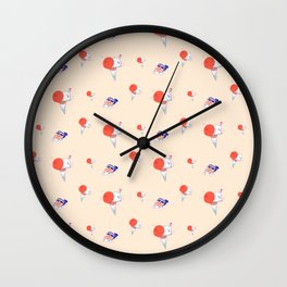 Ice creams and suntan Wall Clock