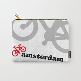 I Love Amsterdam - Red Bike Carry-All Pouch