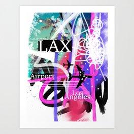 LAX Los Angeles airport code Art Print