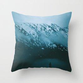 Moody Alaska Throw Pillow