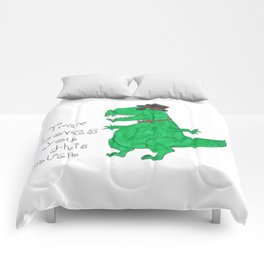 Trex loves you Comforters