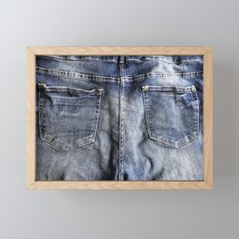 Blue Jeans Never Goes Out Of Style Framed Mini Art Print