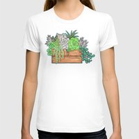 succulents T-shirts featuring Succulents by Little Lost Garden