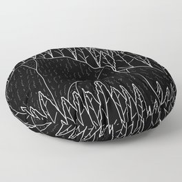 The dark forest and hills Floor Pillow