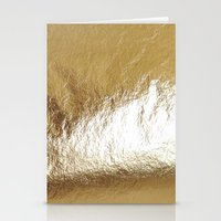 gold foil Stationery Cards featuring Gold Foil by The Wellington Boot
