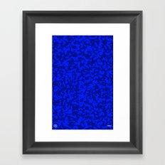 Comp  Camouflage / Blue Framed Art Print