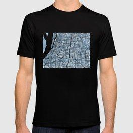 Memphis Tennessee blueprint watercolor map T-shirt