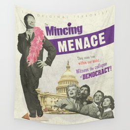 The Mincing Menace Wall Tapestry