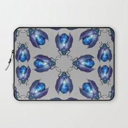 Black Opal Beetles Pattern Laptop Sleeve