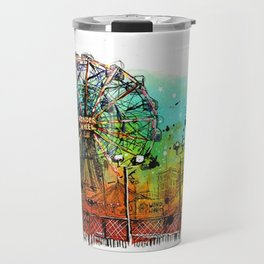 Coney Island Art Travel Mug