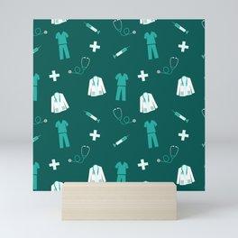 Medical Professional Pattern Mini Art Print