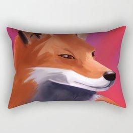 Fox Painting Rectangular Pillow