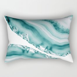 Soft Turquoise Agate #1 #gem #decor #art #society6 Rectangular Pillow