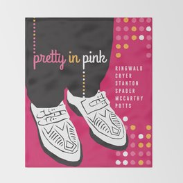 80s TEEN MOVIES :: PRETTY IN PINK Throw Blanket