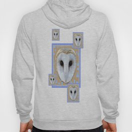 Barn Owl Abstract in Blue Hoody
