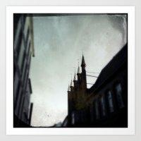 spires Art Prints featuring Rathaus Spires by Martin Llado