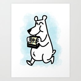 Polaroid Bear Art Print