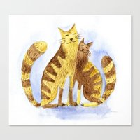 cats Canvas Prints featuring Cats by Anna Shell