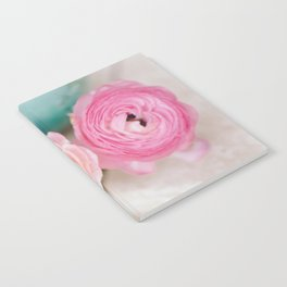 ranunculus pink flowers Notebook