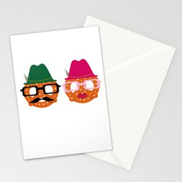 Oktoberfest Pretzel Boobs Funny Stationery Cards
