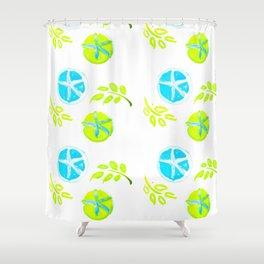 Aqua Stars Shower Curtain