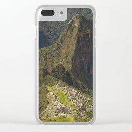 Lost Incan City Machu Picchu and Wayna Picchu Clear iPhone Case