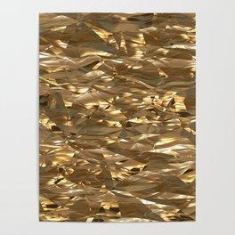 Golden Crinkle Poster