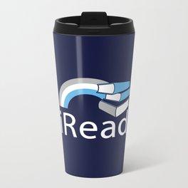 i Read | Book Nerd Slogan Metal Travel Mug