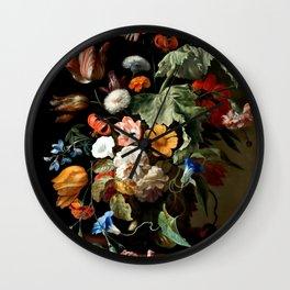 "Rachel Ruysch ""Still-Life with Flowers"" Wall Clock"
