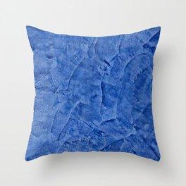 Beautiful Vibrant Light Blue Plaster #society6 #bluedecor #blue Throw Pillow