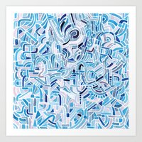 Watercolour abstract pattern 2 Art Print