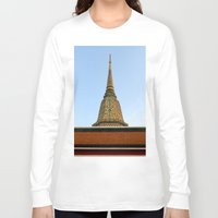 thailand Long Sleeve T-shirts featuring temple in thailand by habish