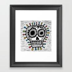 Sugar Skull - sharpie Framed Art Print